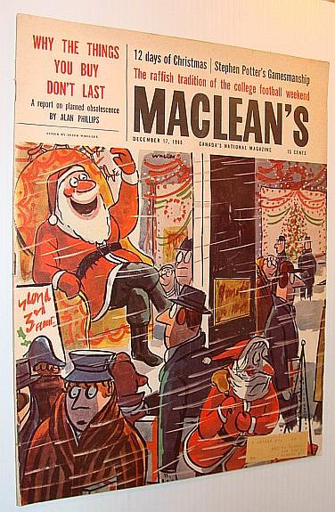 Maclean's Magazine, December 17, 1960 *Planned Obsolescence* Contributors, Multiple Good Softcover