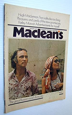 Maclean's - Canada's National Magazine, August 1971: Langdon, Steven; Butson,
