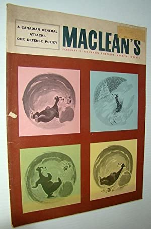 Maclean's - Canada's National Magazine, February 18, 1956 - Dr. Wilder Penfield: Hutton, ...