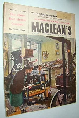 Maclean's - Canada's National Magazine, November 10,: Fraser, Blair; Newman,