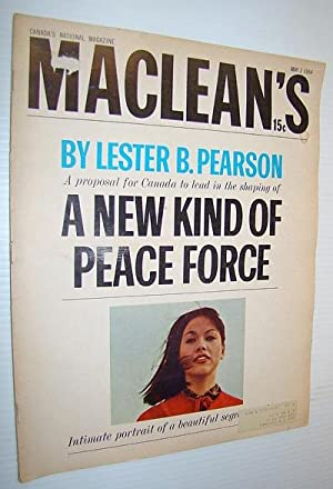 Maclean's, Canada's National Magazine, May 2, 1964: Ross, Alexander; Fraser,