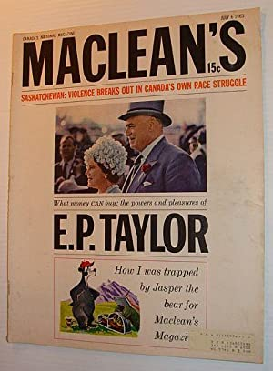 Maclean's Magazine, July 6, 1963 - E.P.: Burke, Tim; Newman,