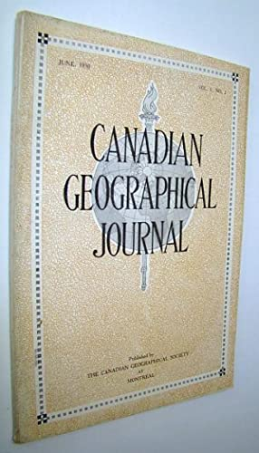 Canadian Geographical Journal, June 1930, Vol. I,: Brann, Esther; Barbeau,