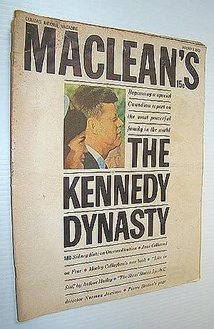 Maclean's Magazine, January 5, 1963 *THE KENNEDY DYNASTY*: Sclanders, Ian; Katz, Sidney; ...