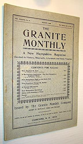 The Granite Monthly - A New Hampshire: Walker, Thomas J.;