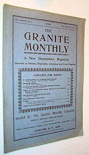 The Granite Monthly - A New Hampshire: Metcalf, H.H.; Lord,