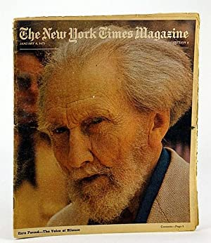 The New York Times Magazine, January (Jan.) 9, 1972 - Ezra Pound Cover Photo: Michener, James A.; ...