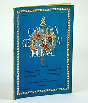 Canadian Geographical Journal, November (Nov.) 1933, Vol: Grenfell, Sir Wilfred;