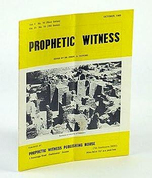Prophetic Witness (Magazine), October (Oct.) 1969, Vol: Tatford, Dr. Fredk.