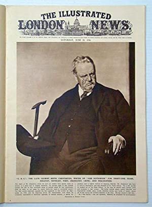 The Illustrated London News, June 20, 1936: Cover Photo Portrait of the late G. K. (Gilbert Keith) ...