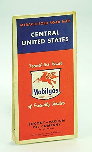 Mobilgas Miracle Fold Road Map of the Central United States