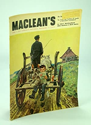 Maclean's - Canada's National Magazine, 1 June 1952 - Brooke Claxton / Royal Dressmaker ...