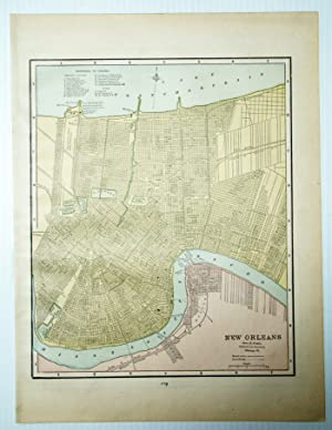 1889 Color Map of the City of New Orleans, Louisiana (LA)
