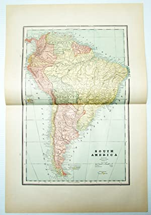 1889 Color Map of Central America