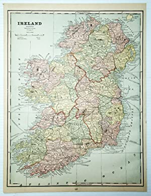 1889 Color Map of Ireland