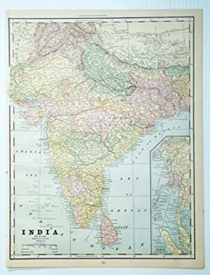 1889 Color Map of India