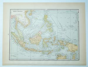 1889 Color Map of the East Indies