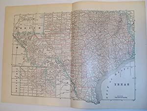 Map of the State of Texas - Circa 1902: Stated, Author Not