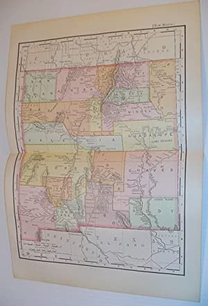 1901 Rand McNally & Co. Colour Map: Stated, Author Not
