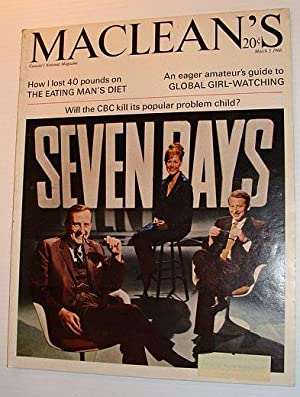 Maclean's Magazine, March 5, 1966 *THIS HOUR HAS SEVEN DAYS*: Contributors, Multiple