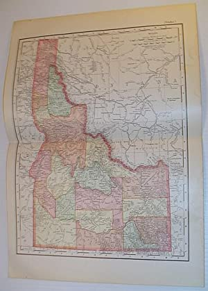 Rand McNally & Co.'s 1901 State Map: Stated, Author Not
