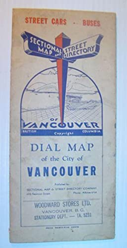 Dial Map of Greater Vancouver, British Columbia - Street Cars, Buses / Map of Burnaby - New ...
