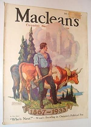Maclean's Magazine - Canada's National Magazine, July: Contributors, Multiple