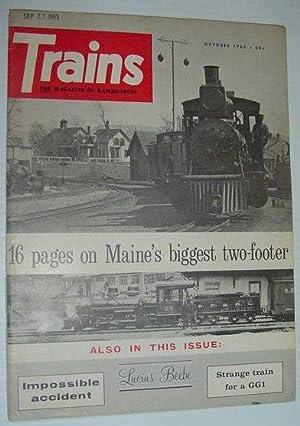 Trains - The Magazine of Railroading: October 1965: Contributors, Multiple