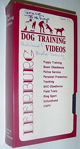 Leeburg Dog Training Video: Schutzhund I Handler Training - VHS Tape in Case