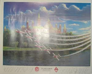 """O.B. Philp's Dream: 26"""" x 20"""" Canadian Forces Snowbirds Limited Edition Lithograph: ..."""