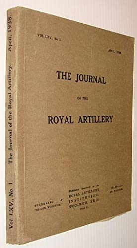 The Journal of the Royal Artillery, Vol.: Contributors, Multiple