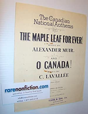 Sheet Music for) The Canadian National Anthems: Muir, Alexander; Lavallee,