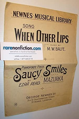 Sheet Music for: 'When Other Lips' and: Balfe, M.W.; Bunn,