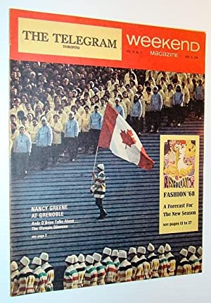 Weekend Magazine, 16 March 1968 - Nancy Greene at Grenoble Cover Photo: O'Brien, Andy