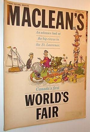 Maclean's, Canada's National Magazine, October 5, 1963: Desbarats, Peter; Sclanders,