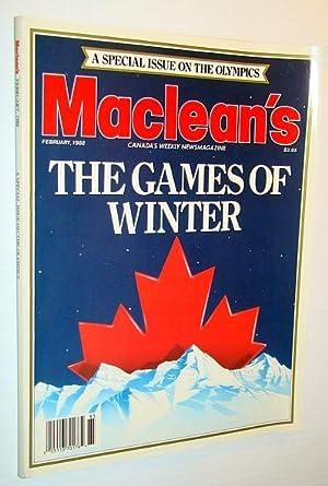 Maclean's - Canada's Weekly Newsmagazine, February 1988: Levin, Bob; Wilson-Smith,