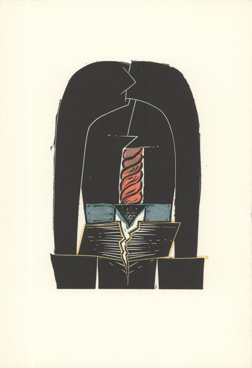 David Lynch-Land III-1973 Linocut: Lynch, David