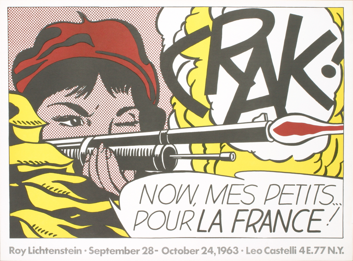 Roy Lichtenstein-Crak!-1963 Poster by Lichtenstein, Roy: Not ...