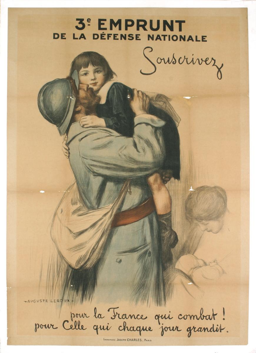 Auguste Leroux-Souscrivez-1916 Lithograph: Leroux, Auguste