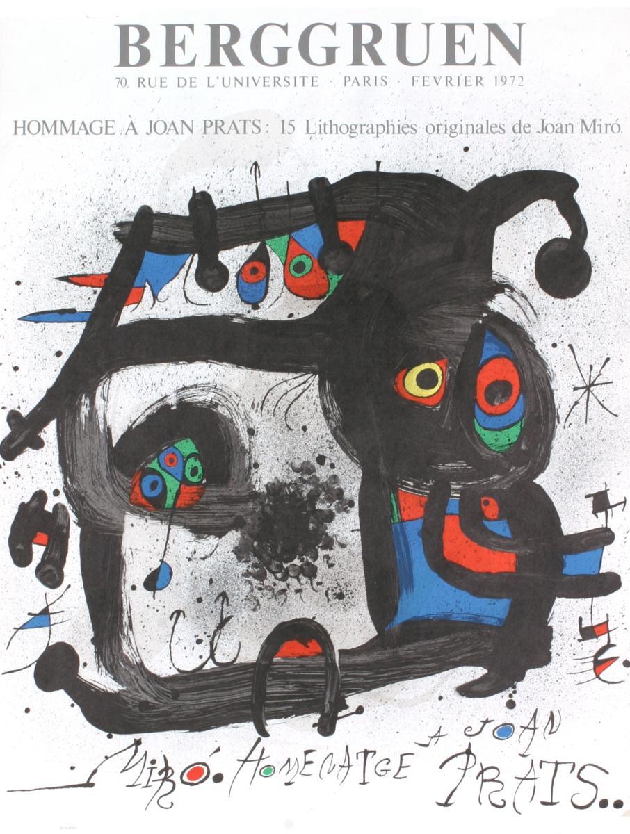 Joan Miro-Hommage A Joan Prats-1972 Mourlot Lithograph: Miro, Joan