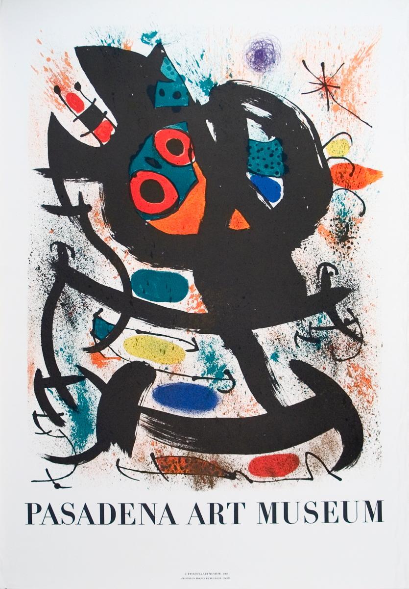 Joan Miro-Pasadena Art Museum Exhibition-1969 Mourlot Lithograph: Miro, Joan