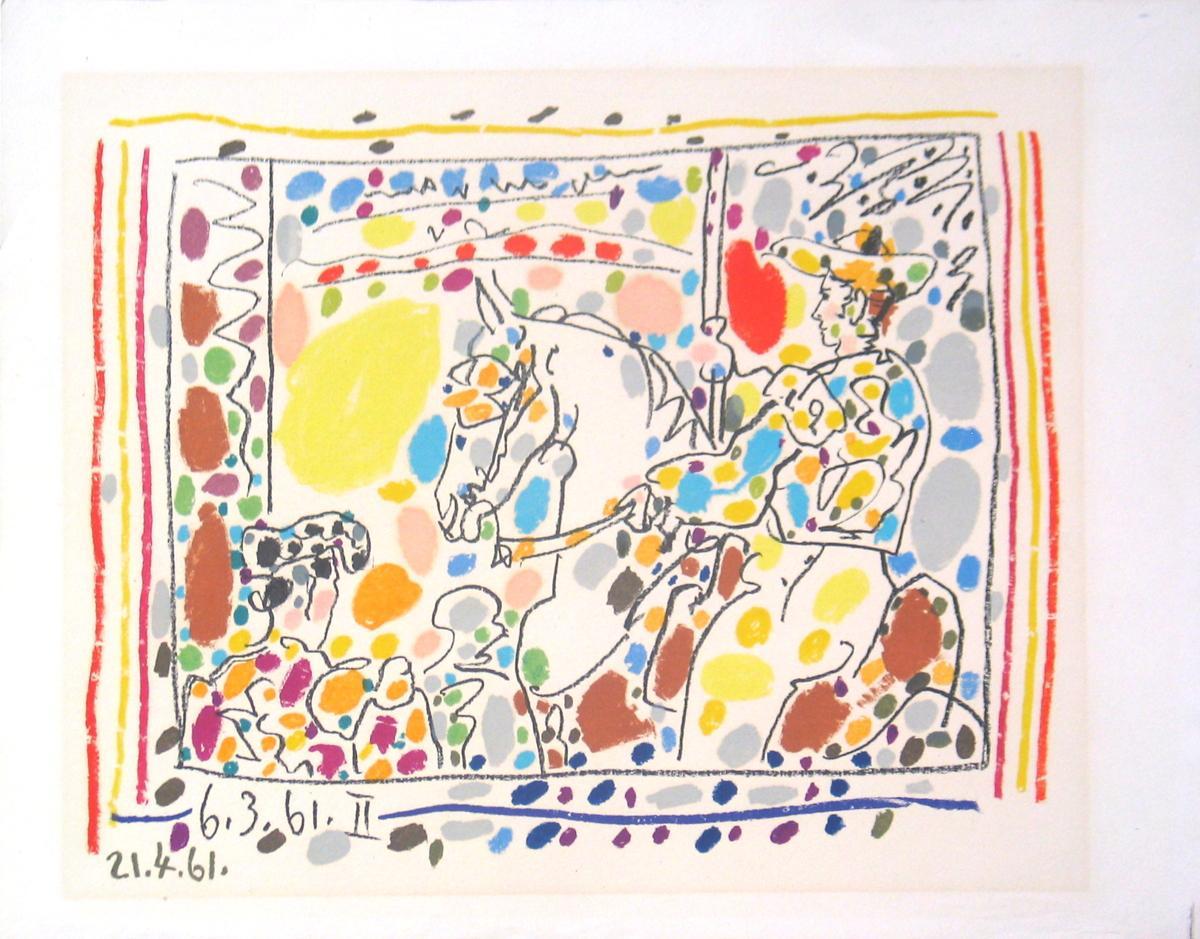 Pablo Picasso-Le Picador II-1961 Mourlot Lithograph: Picasso, Pablo