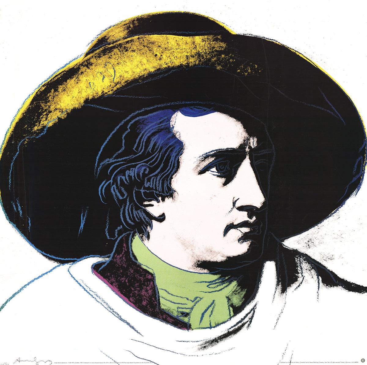 Andy Warhol-Goethe Black and Yellow -1990 Poster Lg