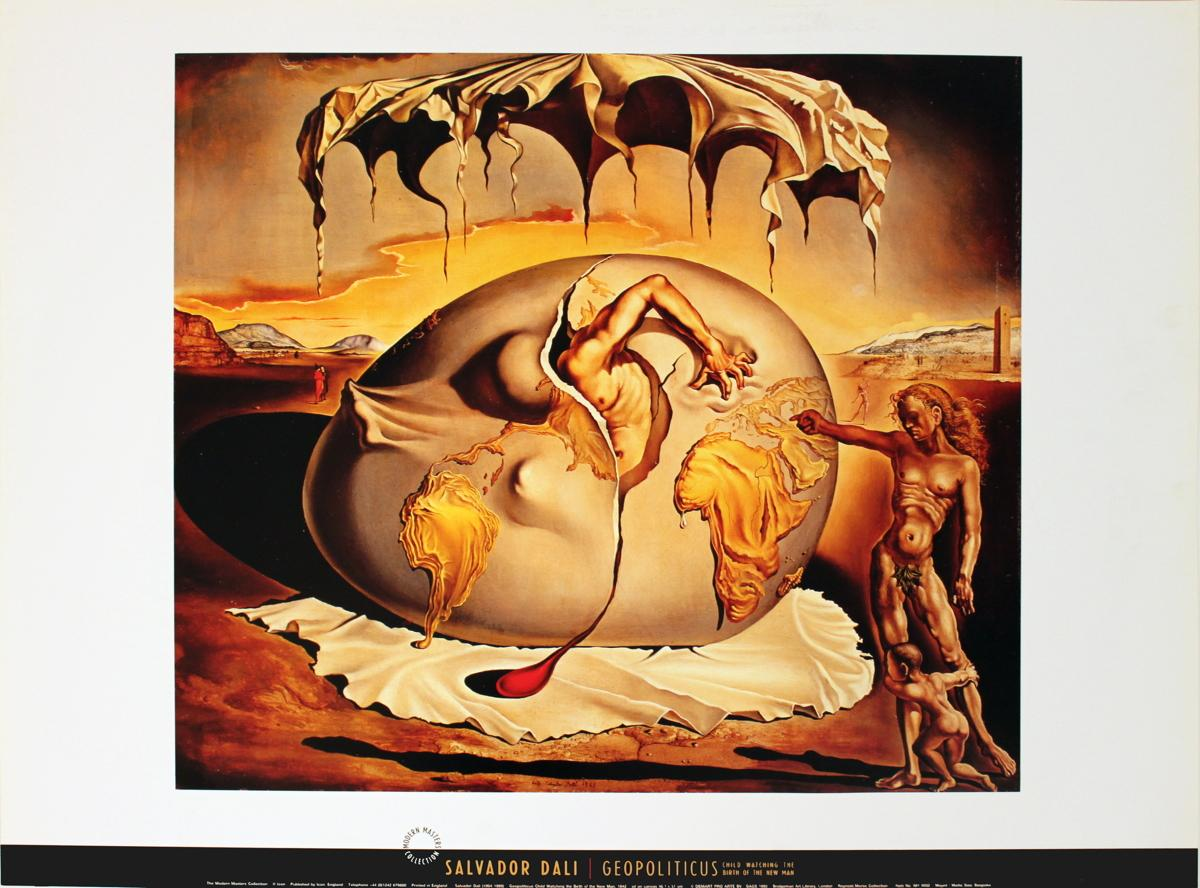 Salvador Dali-Geopoliticus Child Watching the Birth of the ...