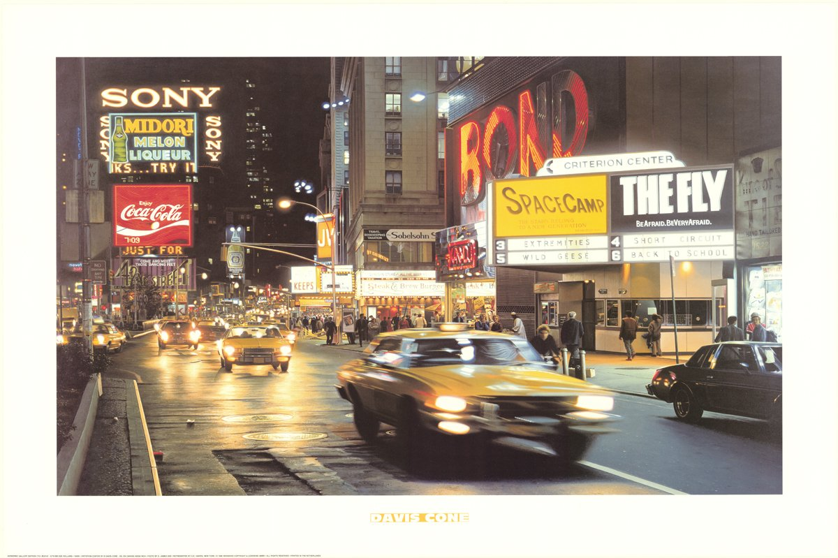 Davis Cone-Criterion Center-1996 Poster Cone, Davis As New