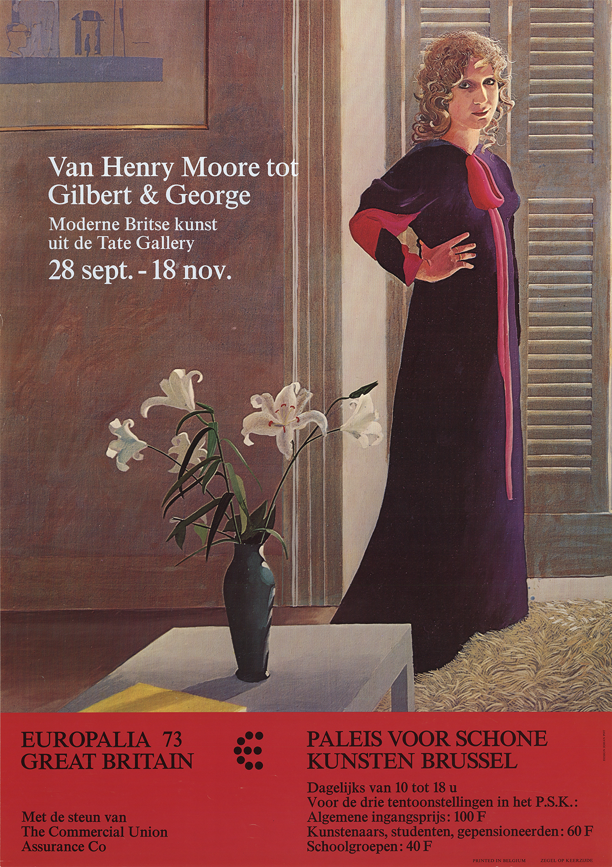 David Hockney-Van Henry Moore tot Gilbert & George-1973 Poster Hockney, David Fair