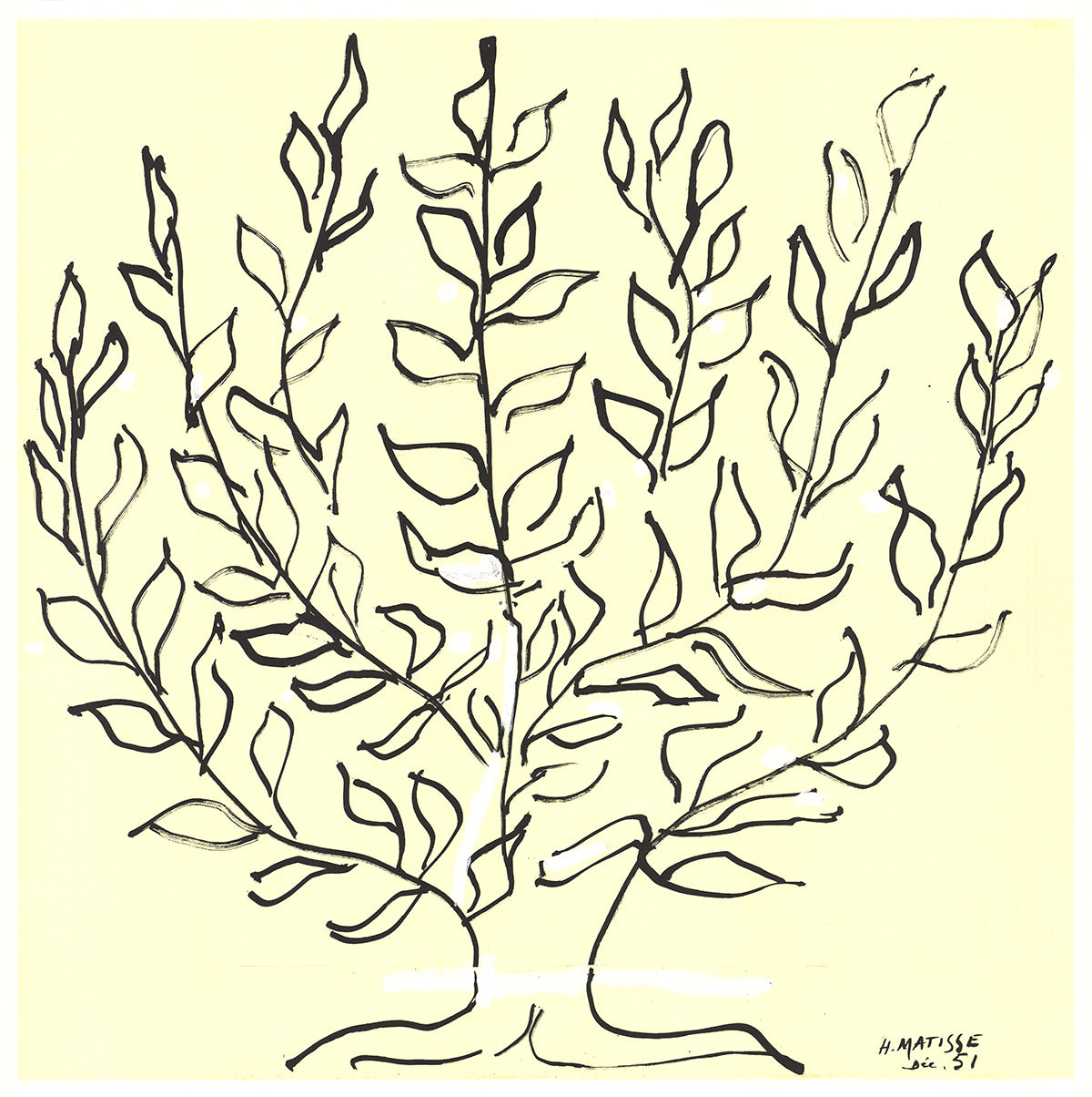 Henri Matisse-Le Buisson II-2015 Lithograph