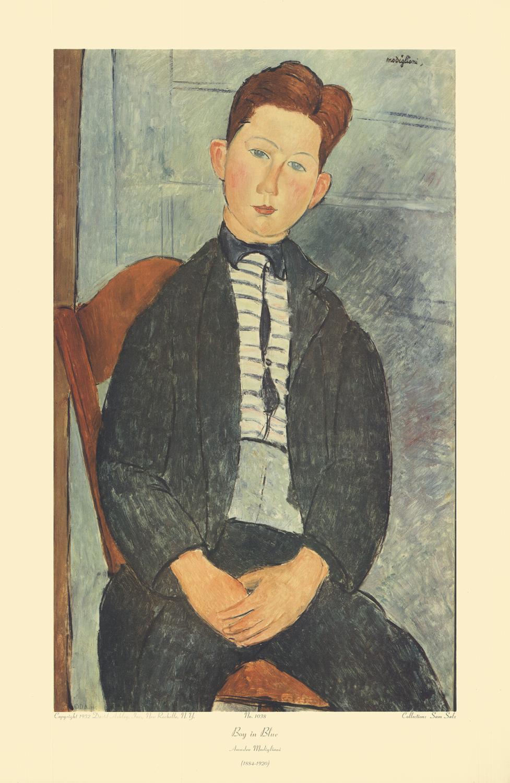 Amedeo Modigliani-Boy in Blue-1952 Poster Modigliani, Amedeo