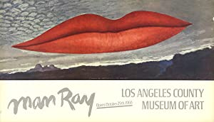"MAN RAY Lips 21.25"" x 36.75"" Poster 1966 Surrealism Red, Gray: Man Ray"
