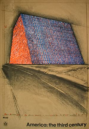 Javacheff Christo-Wrapped Oil Barrels, Texas-1976 Lithograph